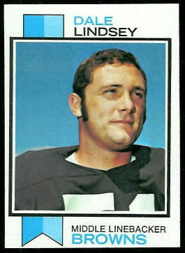 Dale Lindsey 1973 Topps football card