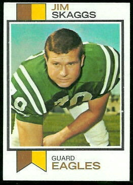 Jim Skaggs 1973 Topps football card