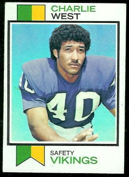 Charlie West 1973 Topps football card