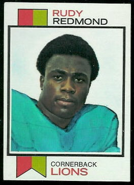 Rudy Redmond 1973 Topps football card