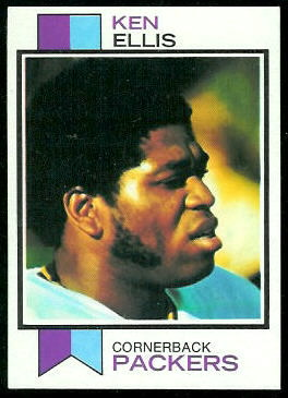 Ken Ellis 1973 Topps football card