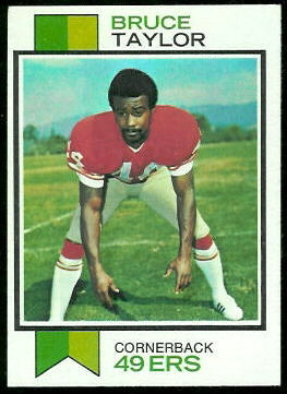 Bruce Taylor 1973 Topps football card
