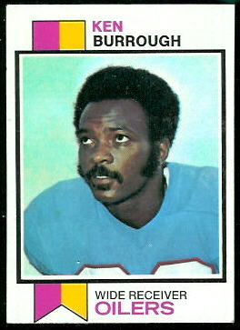 Ken Burrough 1973 Topps football card