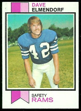 Dave Elmendorf 1973 Topps football card