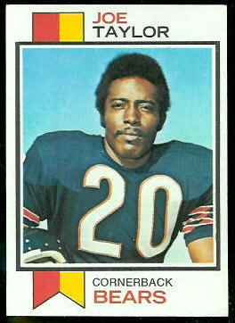 Joe Taylor 1973 Topps football card