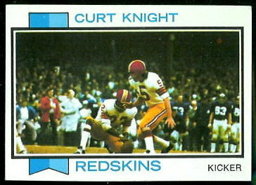 Curt Knight 1973 Topps football card