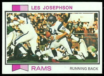 Les Josephson 1973 Topps football card