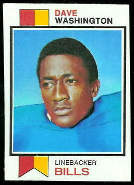 Dave Washington 1973 Topps football card