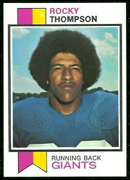 Rocky Thompson 1973 Topps football card