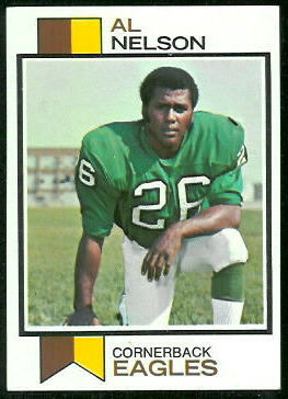 Al Nelson 1973 Topps football card