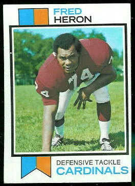 Fred Heron 1973 Topps football card