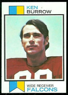 Ken Burrow 1973 Topps football card