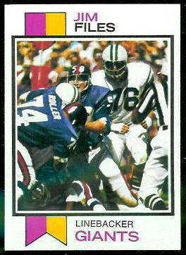 Jim Files 1973 Topps football card