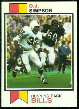 O.J. Simpson 1973 Topps football card