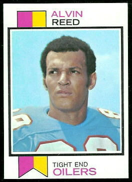 Alvin Reed 1973 Topps football card