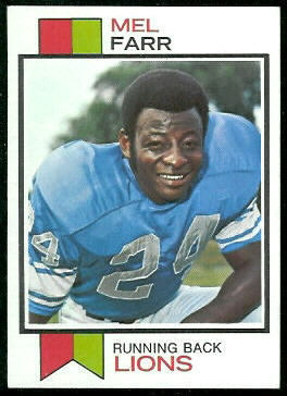 Mel Farr 1973 Topps football card