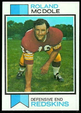 Ron McDole 1973 Topps football card