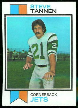 Steve Tannen 1973 Topps football card