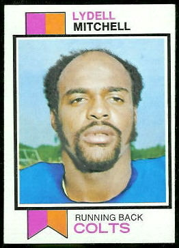 Lydell Mitchell 1973 Topps football card