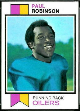 Paul Robinson 1973 Topps football card