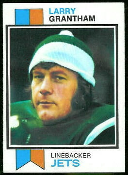 Larry Grantham 1973 Topps football card