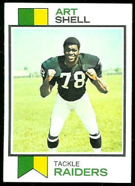 1973 Topps Art Shell rookie football card