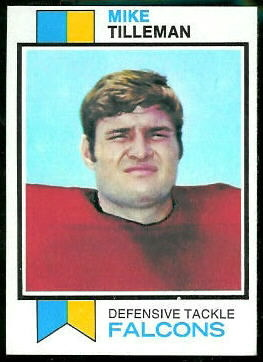 Mike Tilleman 1973 Topps football card