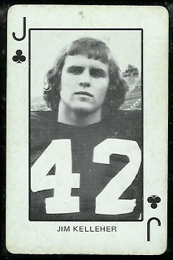 Jim Kelleher 1974 Colorado Playing Cards football card