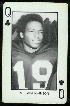 Melvin Johnson 1974 Colorado Playing Cards football card