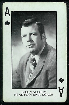 Bill Mallory 1974 Colorado Playing Cards football card
