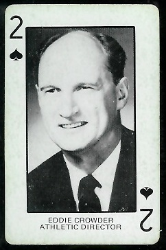 Eddie Crowder 1974 Colorado Playing Cards football card