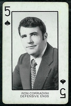 Ron Corradini 1974 Colorado Playing Cards football card