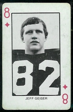 Jeff Geiser 1974 Colorado Playing Cards football card
