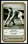 Mel Hein 1974 Fleer Immortal Roll football card