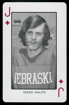 Chuck Malito 1974 Nebraska Playing Cards football card