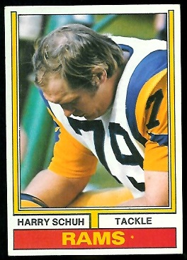 Harry Schuh 1974 Parker Brothers football card