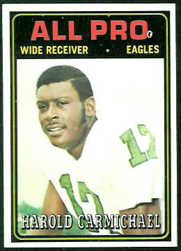 1974 Topps Harold Carmichael rookie football card