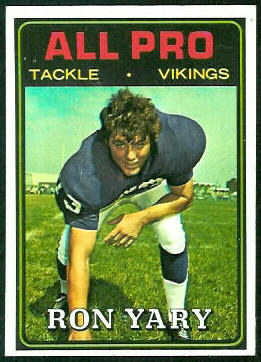 Ron Yary All-Pro 1974 Topps football card
