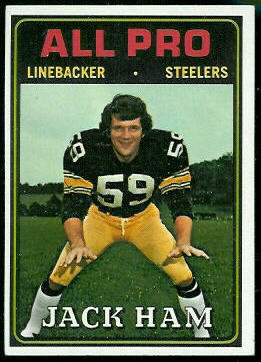 Jack Ham All-Pro 1974 Topps football card