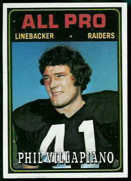 Phil Villapiano All-Pro 1974 Topps football card