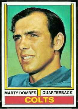 Marty Domres 1974 Topps football card