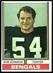Bob Johnson 1974 Topps football card
