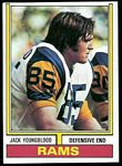 Jack Youngblood 1974 Topps football card
