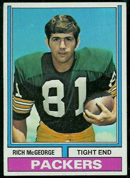 Rich McGeorge 1974 Topps football card