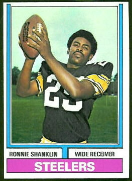 Ron Shanklin 1974 Topps football card