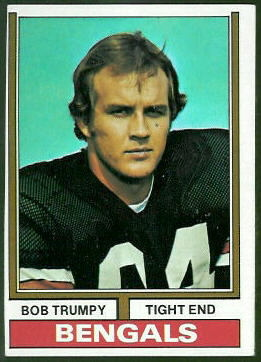Bob Trumpy 1974 Topps football card