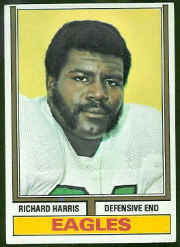 Richard Harris 1974 Topps football card