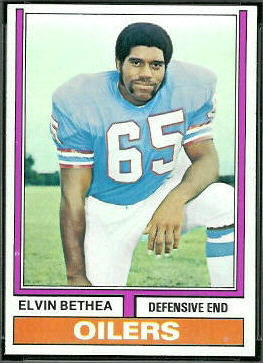 Elvin Bethea 1974 Topps football card