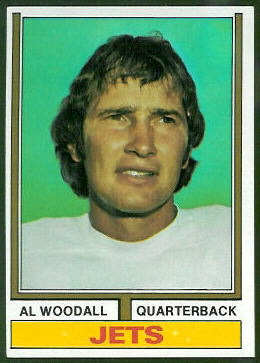 Al Woodall 1974 Topps football card
