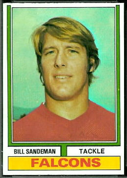 Bill Sandeman 1974 Topps football card